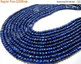 16 Inch Strand,NATURAL Shaded Blue Sapphire Micro Faceted Beads 4-4.5mm aprx