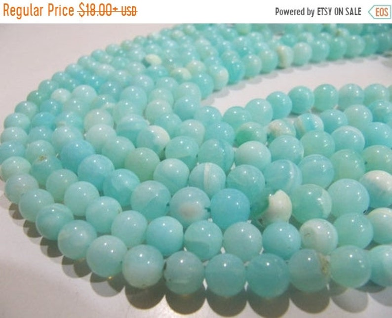 ON SALE Natural Peruvian Opal Plain Smooth Round Shape Beads 6to8mm best Quality Beads Strand 13 inches Long Jewelry making gemstone SIZE Yo