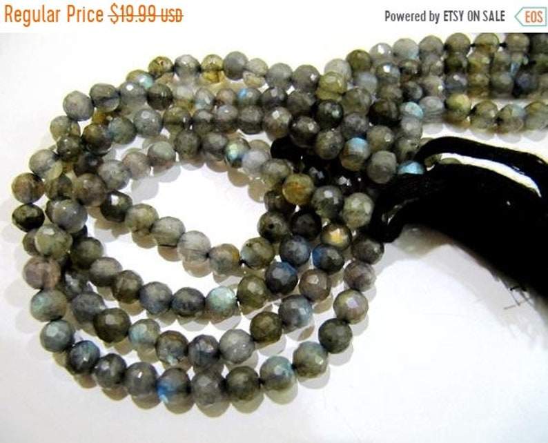 ON SALE Natural Labradorite Round Ball Shape  Faceted 7mm Beads Strands 10 inches Long Top Quality Jewelry making Gemstone Beads