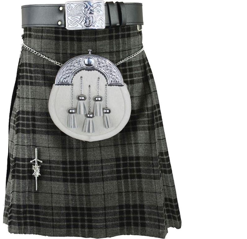 Scottish Royal Stuart 5 Yard/'s Kilt Set With Belt Buckle Pin Part Wear Set