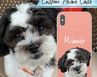 Custom Oil Pet iPhone 11 Case, Custom Dog Face Phone Case, Personalized Dog Phone Case, personalized iPhone 11 pro case