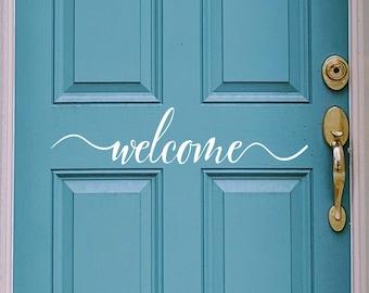 Front Door Welcome | Vinyl Decal