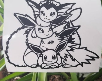 Espeon Umbreon Heart Decal Spinnywhoosh Graphics