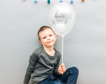 Instagram Announcement Banner Pregnancy Announcement Ideas Big Brother Balloon Baby Announcement Photo Shoot Big Sister Balloon