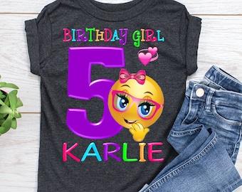 Emoji birthday shirt | Etsy