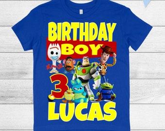4eaf624ed5cb8 Toy story birthday shirt   Etsy