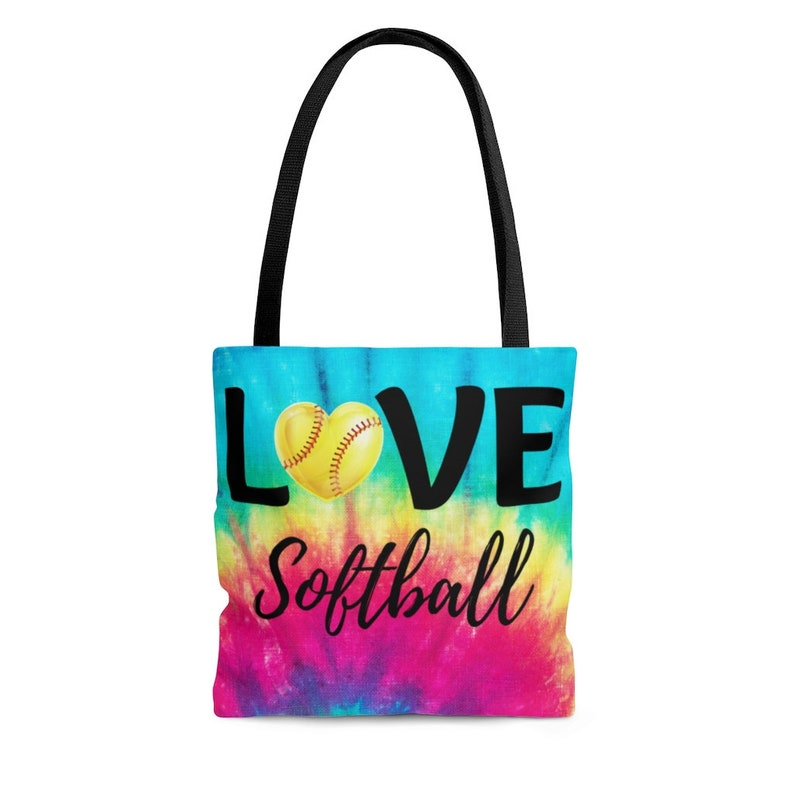 Love Softball Tie Dye Girl/'s Tote Bag