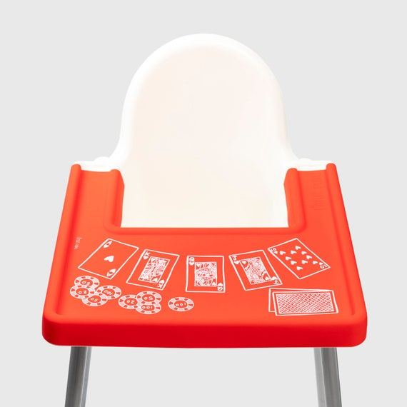 Poker Face Ikea Antilop Highchair Covered Placemat Etsy