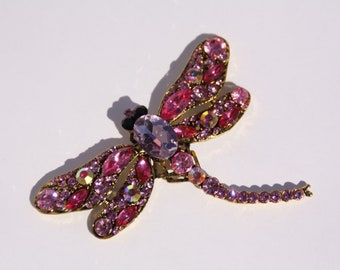 when its gone its gone Upcycled purple dragonfly broach needle minder