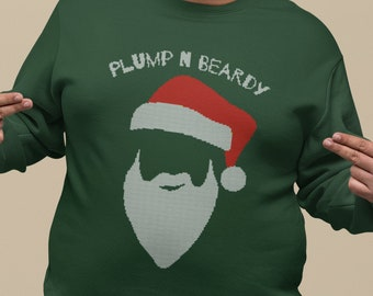 Santa Beard UGLY CHRISTMAS SWEATER, Beard Gifts for Men, Funny Holiday Jumper, Warm and Cozy Office Party Shirt, Unisex Xmas Sweatshirt
