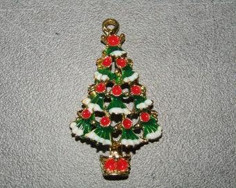 35pcs Arbre de Noël Charms Ton Argent Arbre de Noël avec breloque étoile 21x11mm