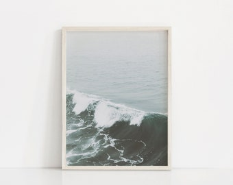 Ocean Waves Printable Art, Digital Download, Turquoise, DIY Wall Art Print, Large Wall Art, Coastal Wall Art, Gallery Wall Set, Prints