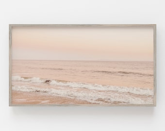 Samsung Frame TV Art   Pastel Beach Digital Art   Art for Frame TV   Coastal Art Frame Tv   Samsung Art Frame   Beach Sunset Print