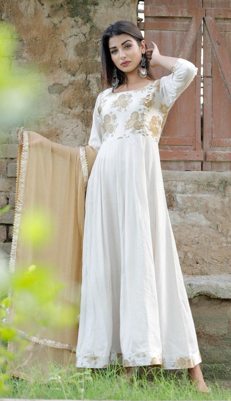 Indian Classic Trendy Stylish Rayon Attractive Designer Printed Kurti Pant Set with Dupatta For Women and Girls Pazzo Set Women Kurti