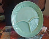 Single Fire-King Jadeite Grill Plate Restaurant Ware Divided Plate Authentic Vintage