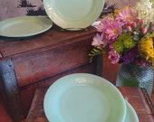 Set of Four Fire-King Jadeite Plates Restaurant Ware 9 quot Plates Authentic Vintage