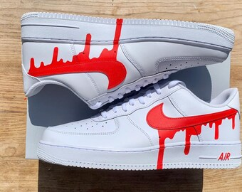Airforce 1 Drip Nike Swoosh Custom   Etsy
