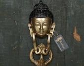 Buddha Face Brass Door Knocker