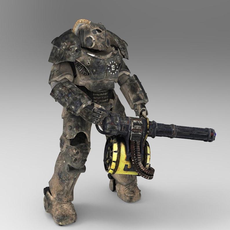Fallout X-01 Wearable Power Armor with Machine Gun for EVA Foam