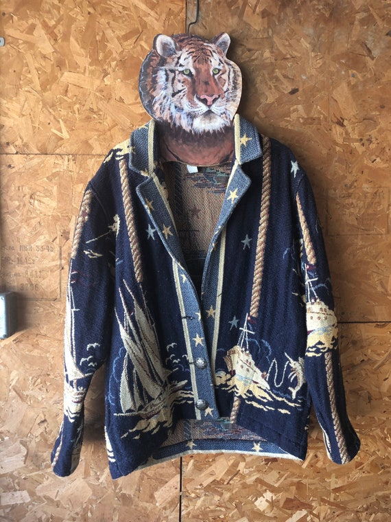 VINTAGE // 1980s Painted Pony Tapestry Jacket At S