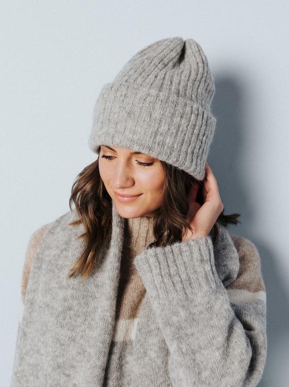 Knit Alpaca Beanie