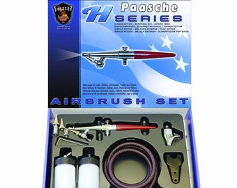 Paasche H-SET Airbrush All 3 Heads+Hose, Bottles & Accessories Factory Sealed
