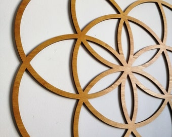 SEED OF LIFE - Sacred Geometry for Wall Art, Wood, Laser cut art - Customize Size and Color