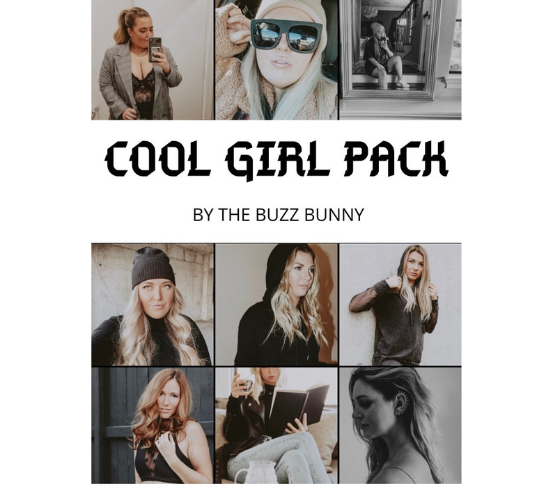 Cool Girl Preset Pack  The Buzz Bunny image 0