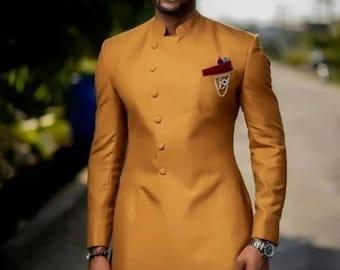 Men's wedding prom suit,african prom suit,groomsmen suit,formal wedding men bespoke suit,African men's wear,men's kaftan
