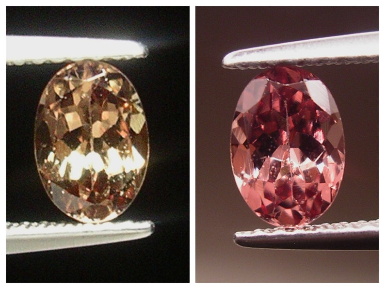 A Beautiful 1ct loose Oval cut Brown to Pink Color Change Garnet
