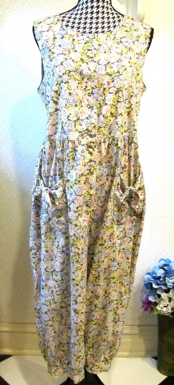 Laura Ashley Vintage Jumpsuit Romper 80's/90's Cot