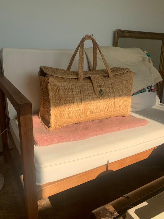 Woven duffel/market/tote/diaper bag