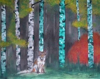 Fox in the woods Original