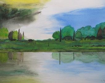Original Watercolor of Coming Storm