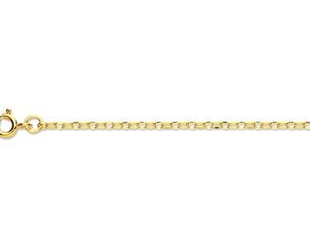 """Made Full Hallmarks 9ct White Gold Diamond Cut Belcher Chains 16/""""-20/"""" U.K"""