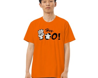 Halloween Boo ASL Men's fitted straight cut T-shirt