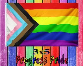 Pride Progress Flag - Rainbow Pride