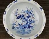 Chinese antique Qing dynasty Kangxi style kiln change red glaze blue and white porcelain pot,brushwasher,Ornament,ceramic vintage collection