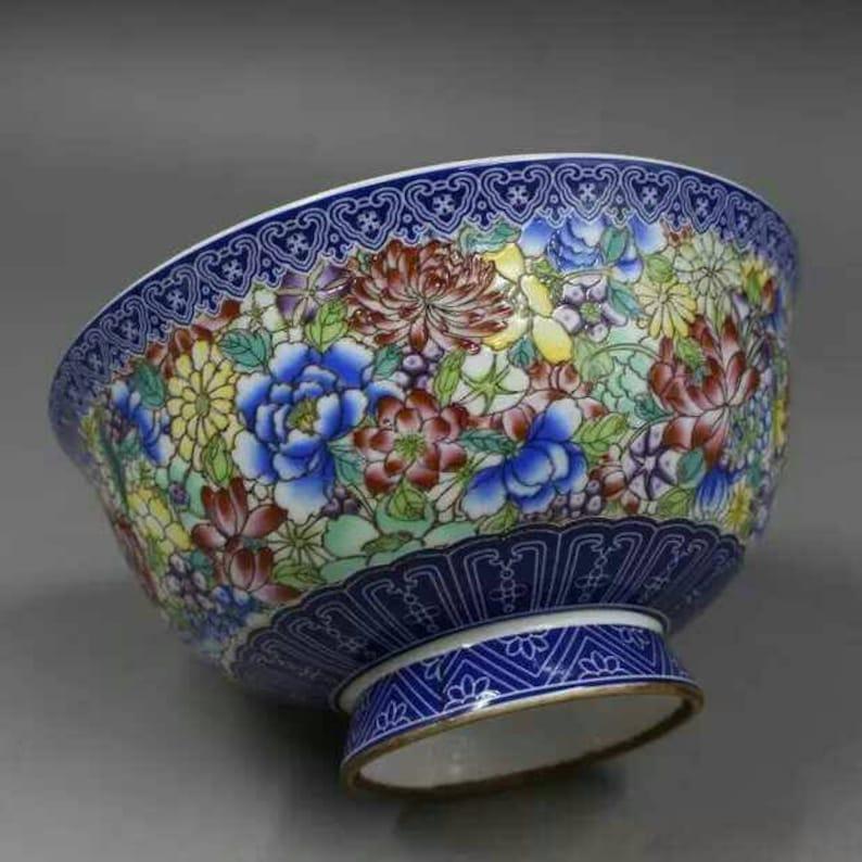 D\u00dcMLER BREIDEN BOWL 335026 blue red rare vintage Pottery Westgermany mid century fat lava plate fruit snack bowl ceramics collectors gift