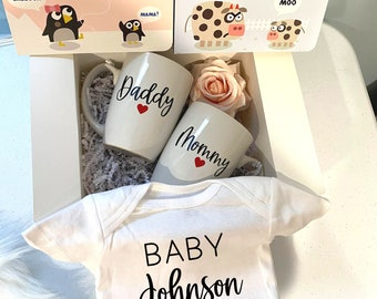 BNQL New Mommy and Daddy Gifts Keychain Set Pregnancy Gifts for First Time Moms New Parents Gifts Pregnancy Announcement Gifts