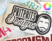 Personalized Vinyl Decals, Personalized Sticker Decals, Cup Decals, Mug Decals, Glass Decals, Laptop Decal, Custom Vinyl names