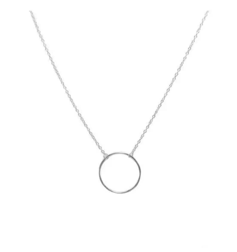 Dainty Necklace Bridesmaid Gift Minimalist Necklace Gift for her Gift for Mom Minimalist Circle Necklace Choker Necklace