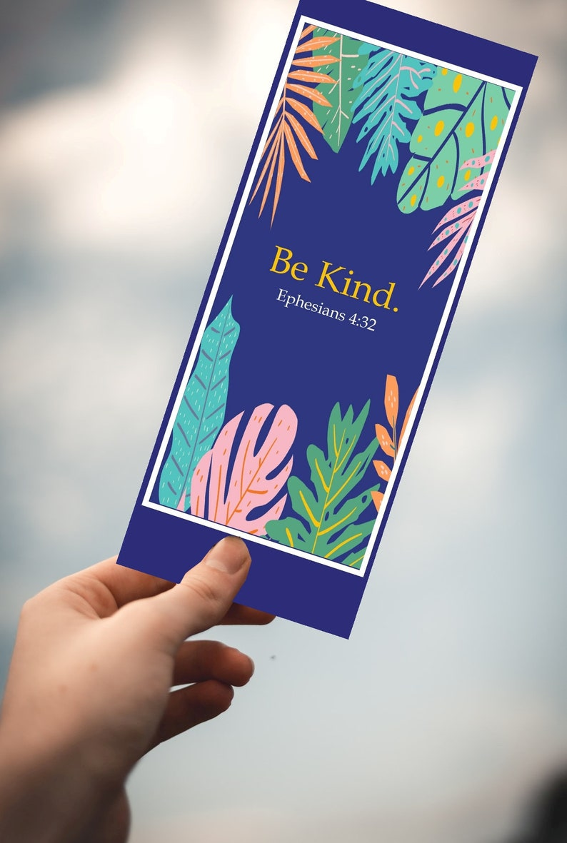 Be Kind Bible Verse Bookmark  Book Club Accessories   image 0