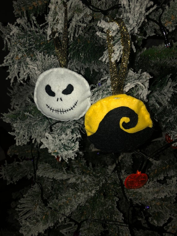 Nightmare Before Christmas Fabric Baubles by Etsy