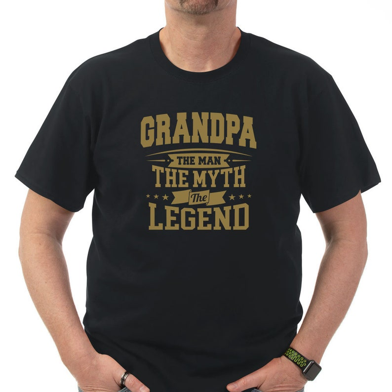 The Myth Grandpa The Man The Legend T Shirt Perfect Gift for Grandpa