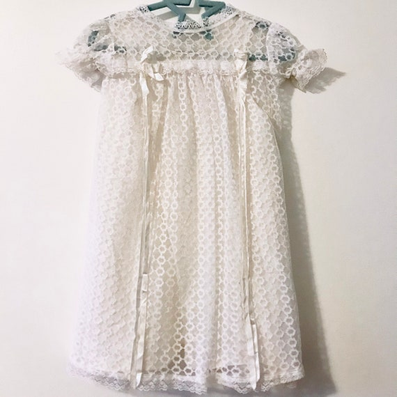 Vintage Lace Christening/Baptism Gown | 1970's
