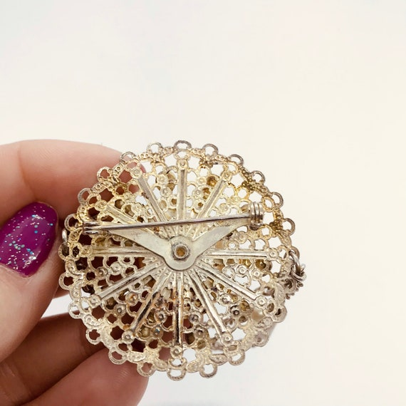 Victorian Inspired Gothic Brooch with Dangle | 19… - image 4
