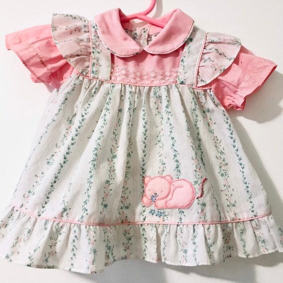 Vintage Collared Dress | Infant Girl 1980's