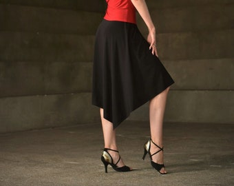 False wrap tango skirt, latin skirt, salsa skirt, dance skirt SM7000 by StudioMoscow