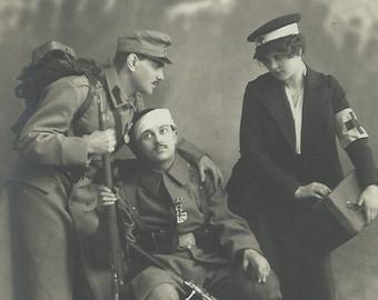 Nurse Costume WW1 2 40s Florence Nightingale Womens Ladies Fancy Dress Outfit